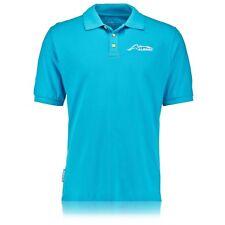 McLaren Honda Fernando Alonso Short Sleeve Polo Shirt Top Blue Mens