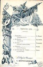 CAPITAINE JACQUET .. 27é REGIMENT D'INFANTERIE ..PROGRAMME  .. 1909 .