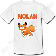 T-shirt Enfant Renard avec Prénom Personnalisé