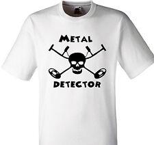 METAL DETECTING T SHIRT HEAVY METAL DETECTOR PIRATE TREASURE STYLE HOBBY GIFT