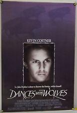 DANCES WITH WOLVES ROLLED ORIG 1SH MOVIE POSTER KEVIN COSTNER WESTERN (1990)