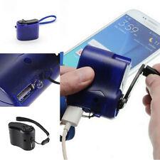 Portatile Wind Up DINAMO MANOVELLA USB PDA Cellulare MP3 caricabatteria di emergenza NUOVO