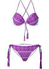 Damen Push-up Bikini (2-tlg. Set), 241974 in Malve/Hellmint, Cup B