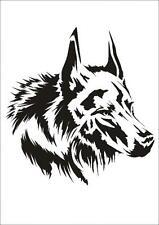Wandschablone Maler T-shirt Schablone W-647 Wolf ~ UMR Design