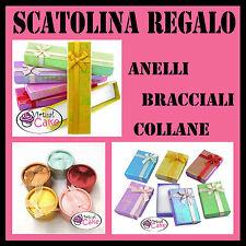 CONFEZIONI SCATOLINE REGALO SACCHETTINI ORGANZA gioielli bijoux bomboniere DIY