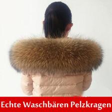 XXXL Echt Waschbären Pelzkragen  Fell Echtpelz Echtfell für Jacke Mantel Braun