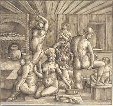 Albrecht Dürer -Women's Bath Giclee Canvas Print repro