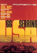 Porsche Sebring Race  USA 1966  - Print on Paper & Canvas Giclee Poster