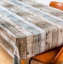 Wachstuch Tischdecke Meterware Holz Optik eckig rund oval K-150126