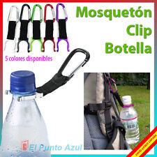 Clip Botella Agua con Mosquetón ★Camping Senderismo★ Clip Bottle Water