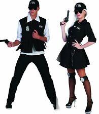 Kostüm FBI Agent Agentin Komplettkostüm mit Kappe Polizist Karneval Fasching NEU