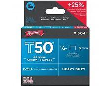 T50 Staples ARROW T50 STAPLES Pack of 1250 - 6,8,10.12,13 & 14mm