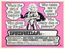 Home Wall Art Print -Vintage Movie Film Poster- BARBARELLA -A4,A3,A2,A1