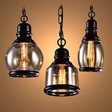 Modern Vintage Industrial Retro Loft Glass Ceiling Lamp Shade Pendant HC