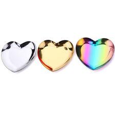 Desktop Stainless Steel Storage Tray Polished Heart Shape Jewelry Organize Fruit