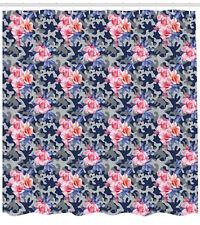 bf2f7c2fbff8 Victorian Shower Curtain Pink Roses Retro Camo Print for Bathroom