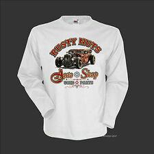 Camiseta T-Shirt Vintage Coche Hot Rod Oldtimer Auto SPEED TIENDA Rat 1177Wh LS