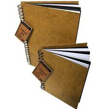BLACK WHITE card wooden hardback cover scrapbook pad wirobound sketch book album