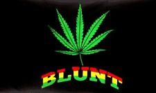 BLUNT Flag 3x5 ft Marijuana Leaf Leaves Cannabis Weed Pot MJ MMJ Medical Legal