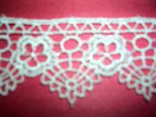 """5y Pretty Vintage Venise Lace Satin Trim 1-1/4""""  Venice Crafts Scrapbook 815"""