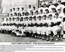 NY Yankees 1950 MLB Champions, 8x10 B&W Team Photo