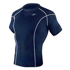 Take Five Mens Skin Tight Compression Base Layer Running Shirt S~2XL Navy 031