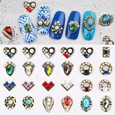 10Pcs Retro Metal Alloy Nail Art Rhinestone 3D Tips DIY Jewelry Decoration DIY