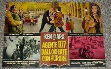 KEN CLARK, AGENTE 077 DALL'ORIENTE CON FURORE, FOTOBUSTA, SPIONAGGIO