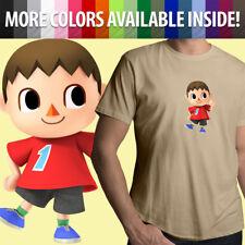 Super Smash Bros Animal Crossing Villager Boy Game Unisex Mens Tee Crew T-Shirt
