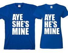 AYE He's Mine AYE She's Mine Mickey Hand  couple matching funny cute T-Shirts