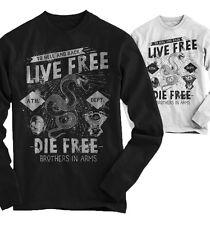 Señores camuflaje Live Free la Free Biker moto club rocker camisa ba5117ls