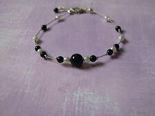Bracelet  perles de verre couleur ivoire/noir  pr robe de Mariée/Mariage/Soirée