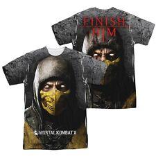 Mortal Kombat X Scorpion Finish Him 2-Sided Sublimation Print Poly Shirt S-3XL