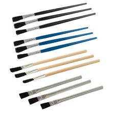 Soldering Flux Brush Set Solder Joints Crimped Bristles Wooden Plastic Workshop
