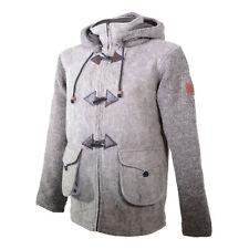Kunst und Magie Herren Loden Jacke gestrickte Ärmel und abnehmbare Kapuze