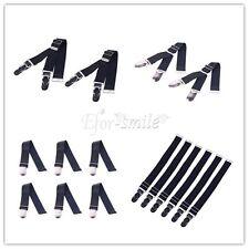 Men's Women's Elastic Garter Belt Suspender Socks Holder Clip Buckles Leg Sock