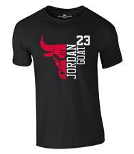 Jordan t-shirt 23 Goat chicago bulls michael baloncesto camisa nba S-XXL