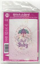 Vintage Needlecraft Stitch A Card Counted Cross Stitch Kit U Pick Baby Kitten