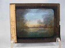 Magic Lantern Glass Slide Pool Of London Vical Cole Painting England Ships (O)
