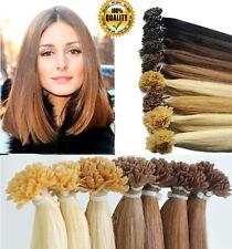 100S Remy 100% Real Human Hair Extensions Pre Bonded Nail U Tip Keratin UK