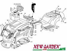 Explosionszeichnung Karosserie Aufsitzmäher Mäher 98cm XL140 castelgarden
