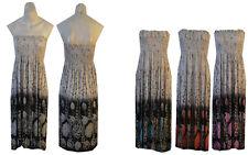 *BNWT Ladies women Printed Sheering Boob Tube Bandeau Summer Midi Dress 8 to 14*