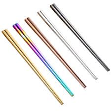 1 Pair High Grade Reusable Chopsticks Metal Chinese Stainless Steel Chop Sticks