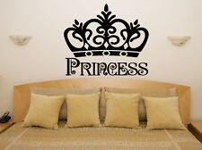 Princess Crown Nursery Children's Bedroom Room Decal Wall Art Sticker Picture