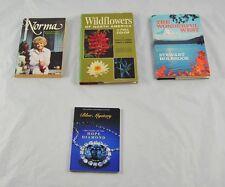 Lot Of 4 Vintage Books Norma Wildflowers Wonderful West & The Hope Diamond