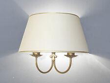 Applique lampada da muro parete doppia a due luci in metallo con ventola cono