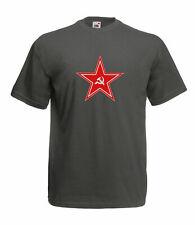 Russische roter Stern Hammer und Sichel Grafik hochwertige farbige T Shirt