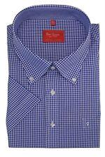 Ben verde de manga corta de algodón premium para Hombres Camisas Informales Inteligentes (11030)