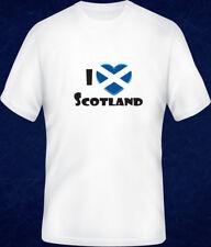 I LOVE SCOTLAND Scottish Flag T SHIRT Short & Long Sleeve - Adult & Kids -Unisex