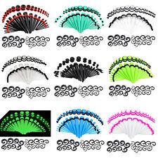 54PCS Acrylic Taper/Plug/Spiral Ear Stretching Kits Gauges 14g-00g Ear Expander